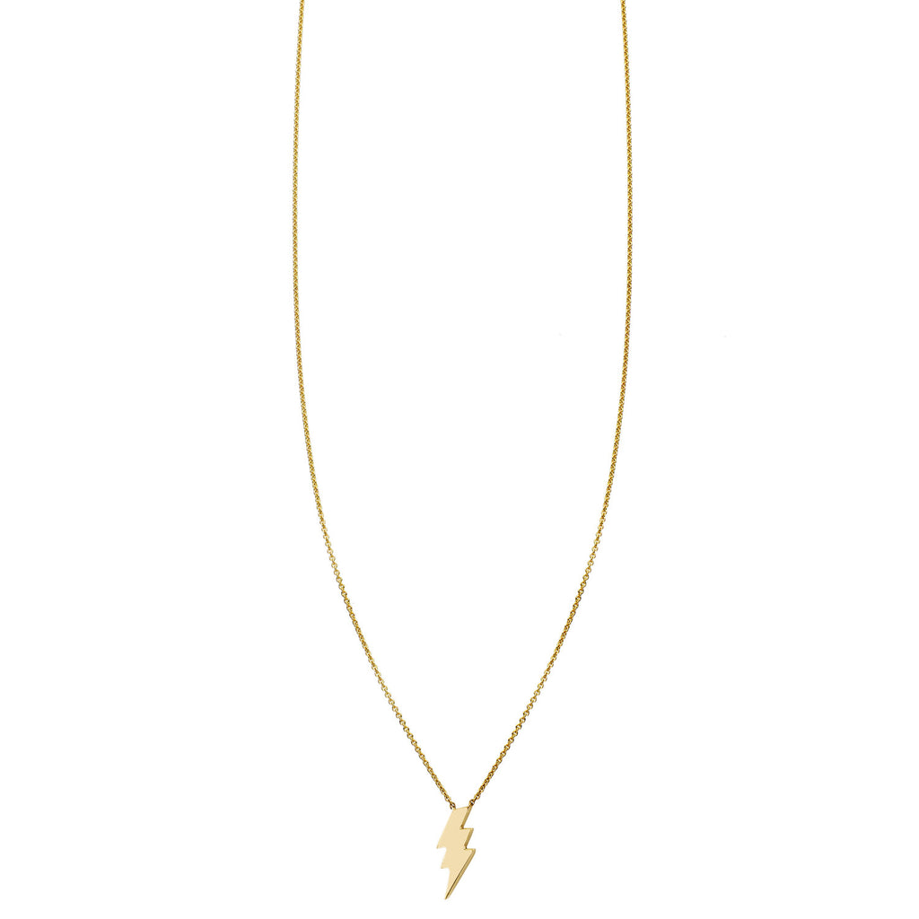 Small Lightning Bolt Gold Necklace - Phoenix Roze
