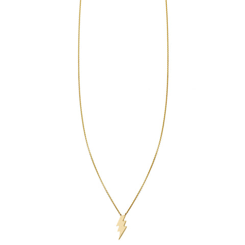 Small Lightning Bolt Gold Necklace