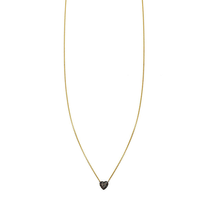 Image of Diamond Heart Charm Necklace