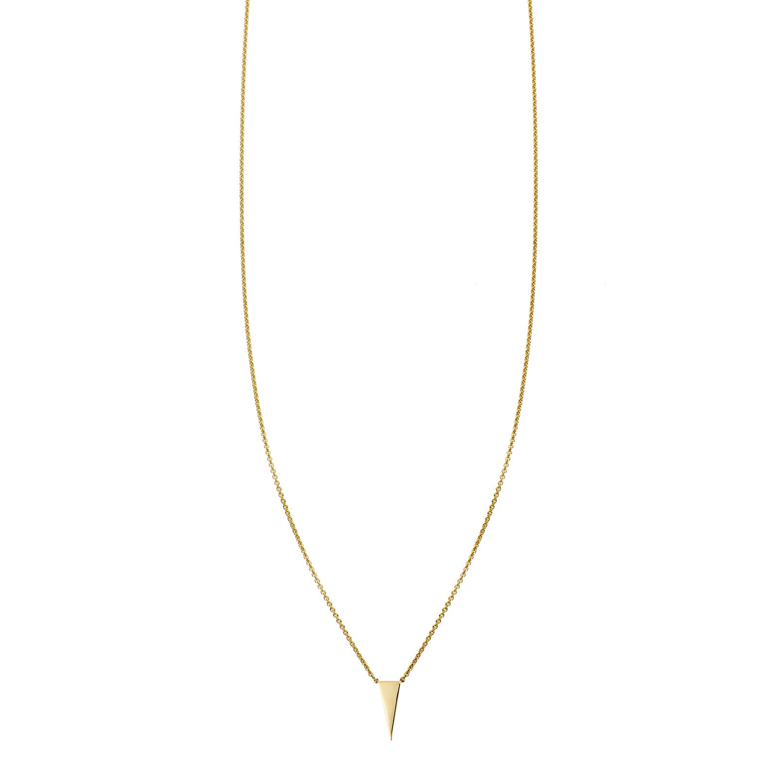 Small Gold Vertical Triangle Necklace