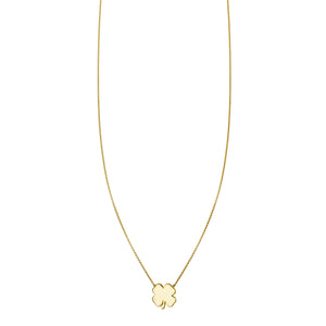 Image of a Gold Four Leaf Clover Charm Necklace