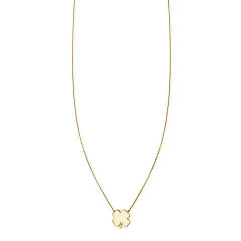 Gold Four Leaf Clover Charm Necklace