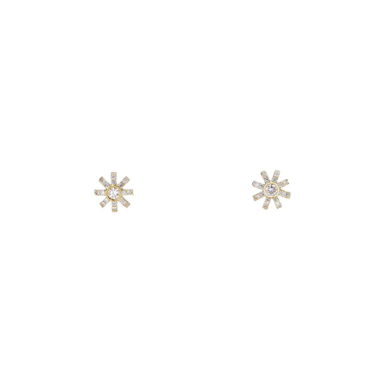 Image of Sunburst Stud Earrings