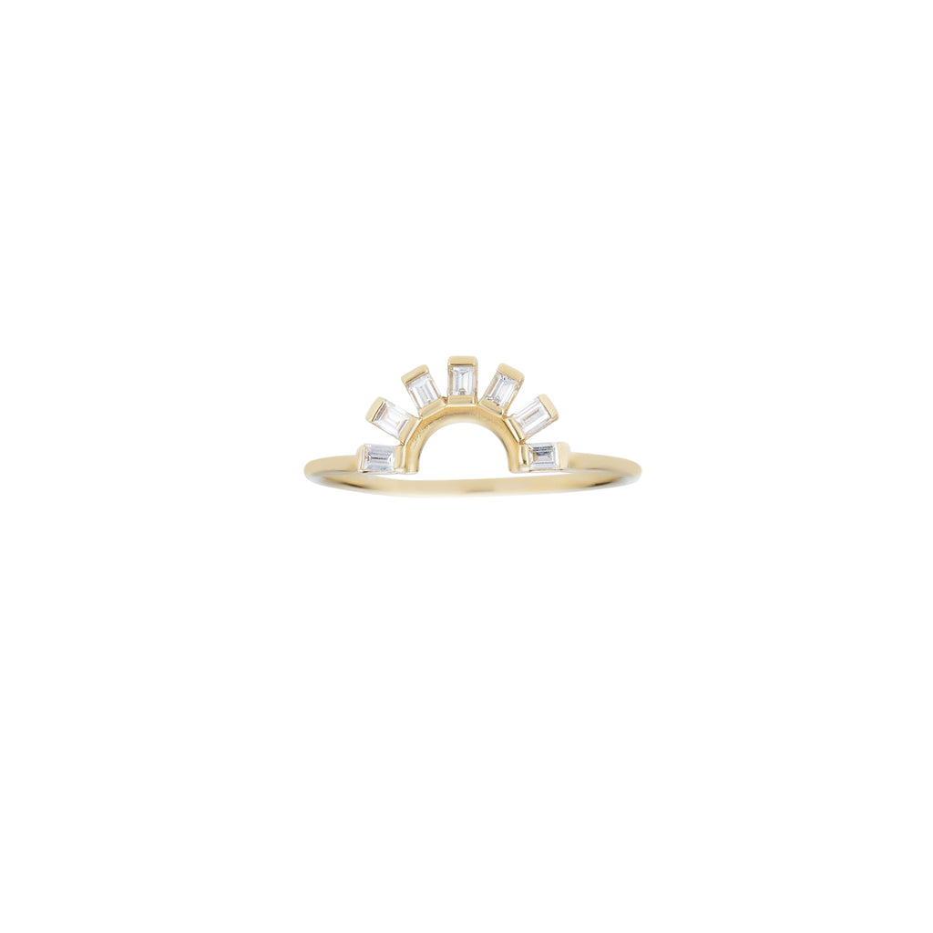 Sunrise Baguette Diamond Ring