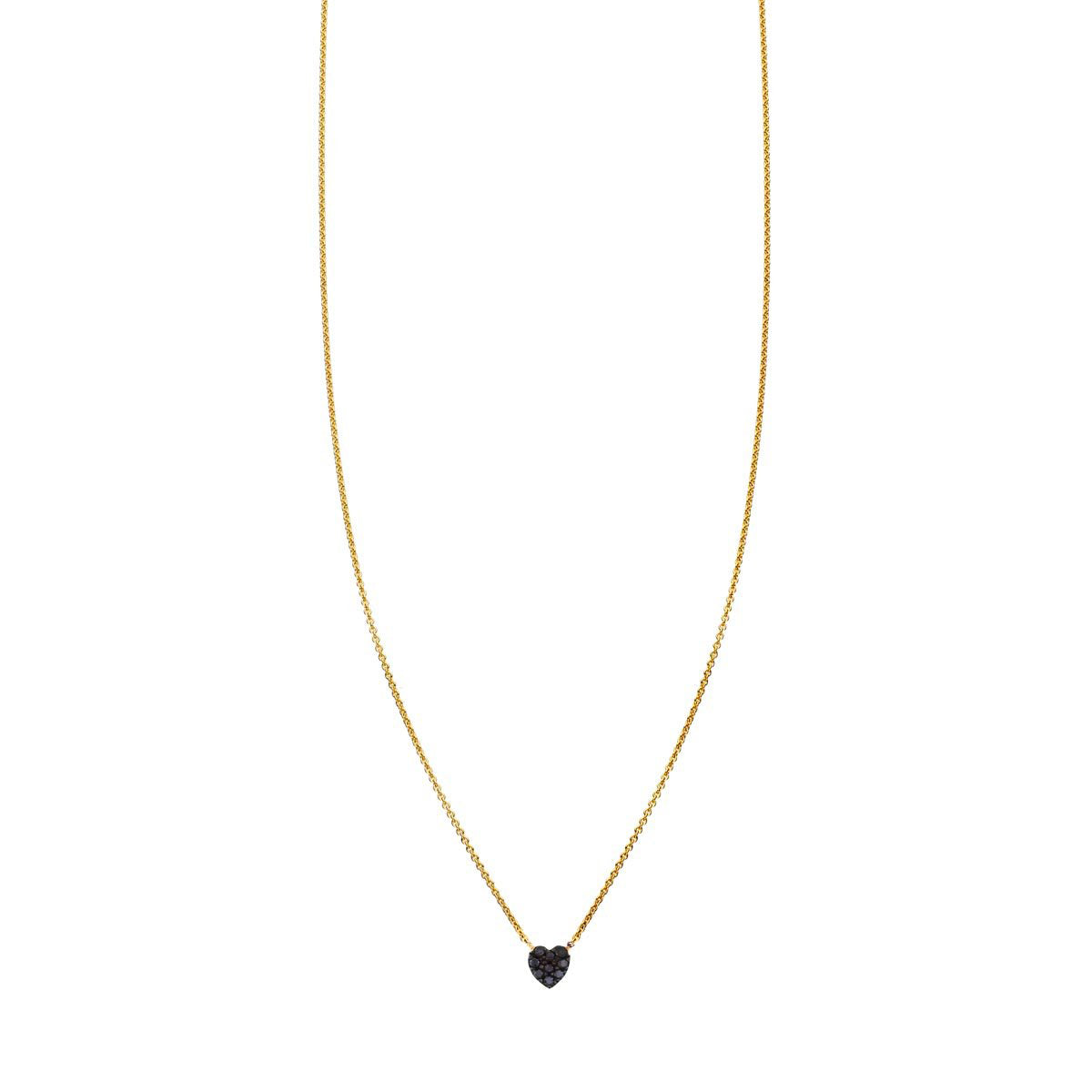 Image of a Black Diamond Tiny Heart Necklace