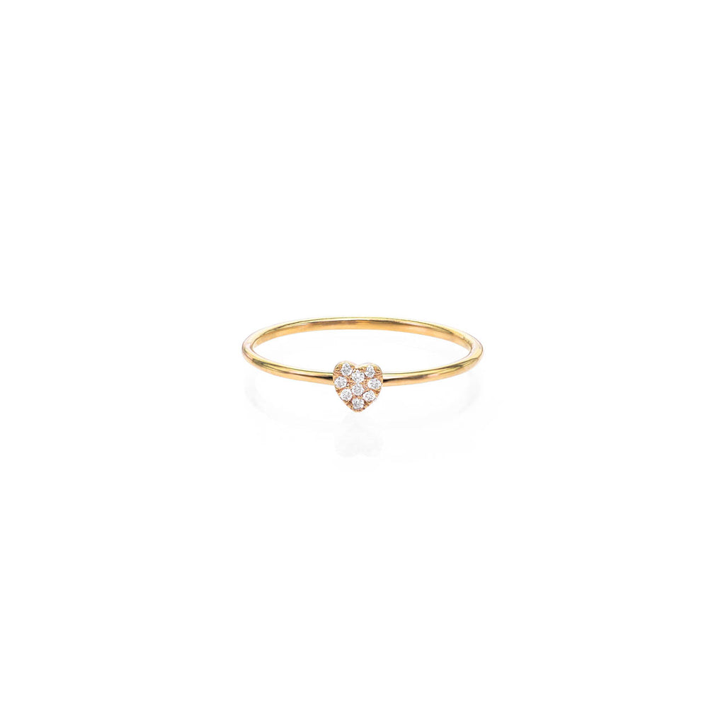 Image of Tiny Diamond Pave Heart Ring