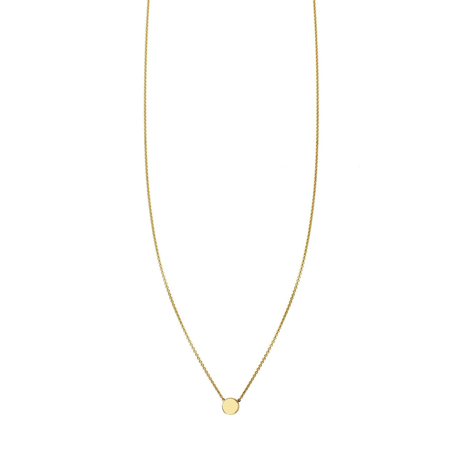 Gold Tiny Dot Necklace