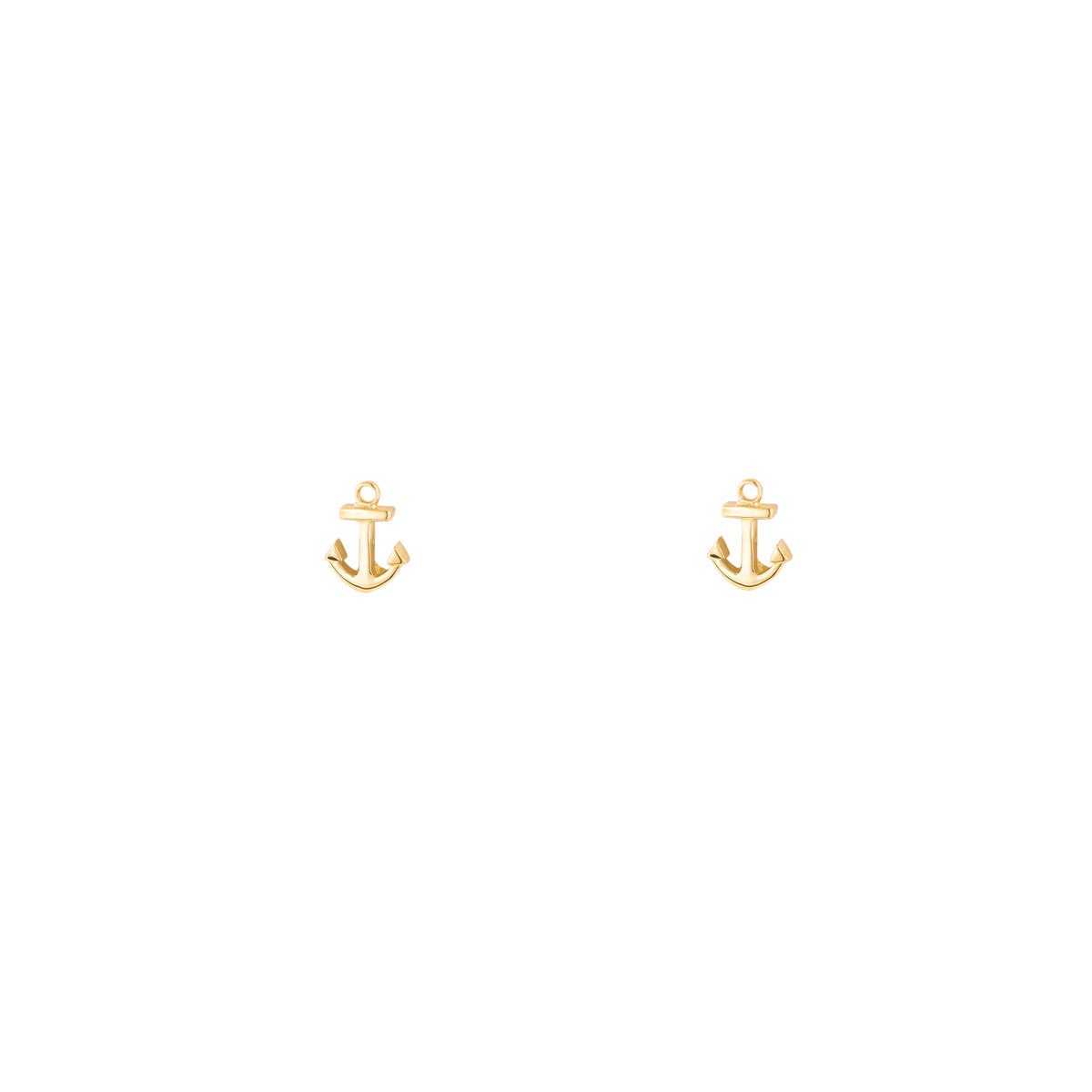 Tiny Gold Anchor Studs Earrings
