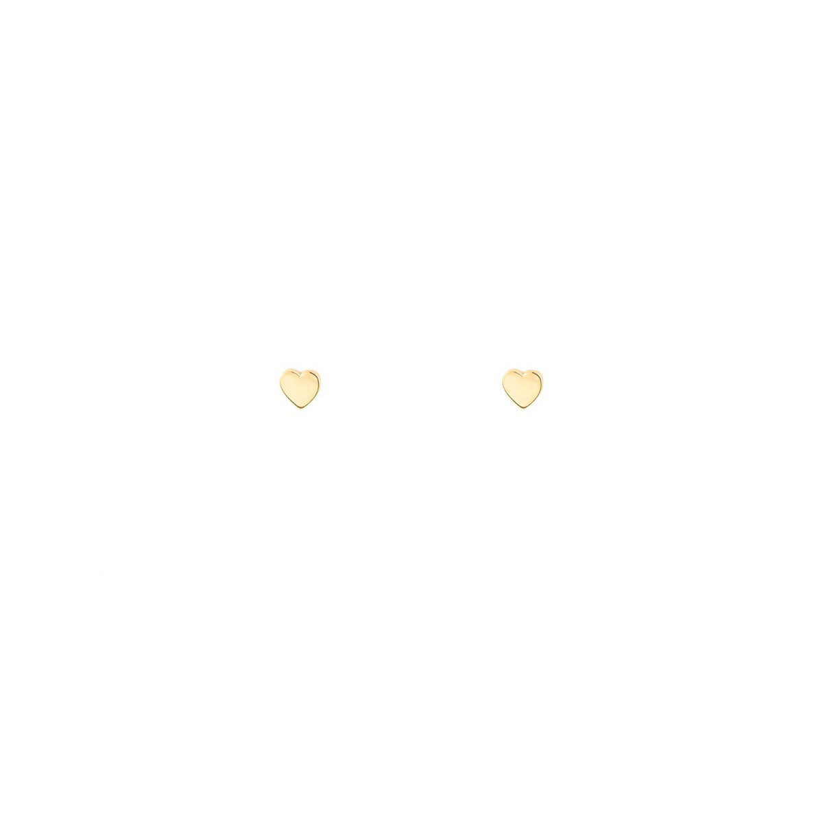 Image of Tiny Gold Heart Stud Earrings