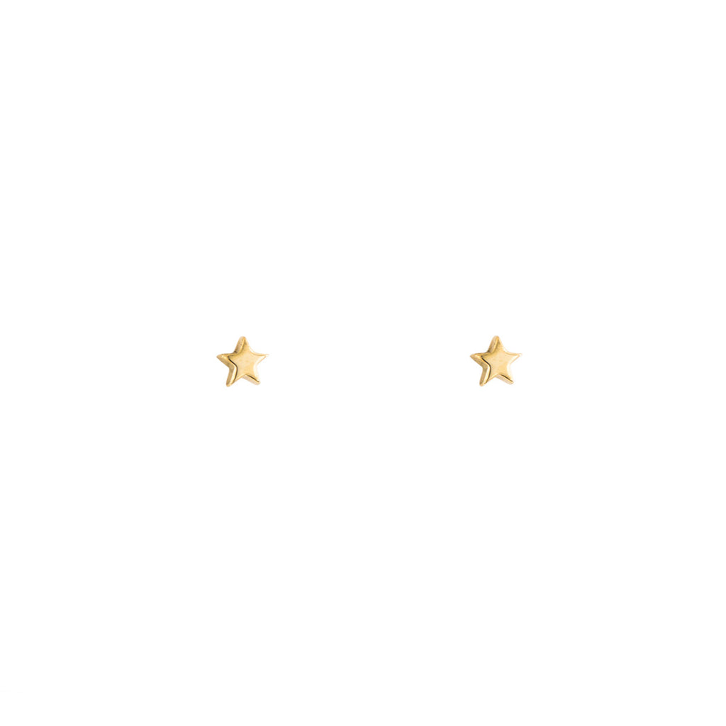 Tiny Gold Star Stud Earrings - Phoenix Roze
