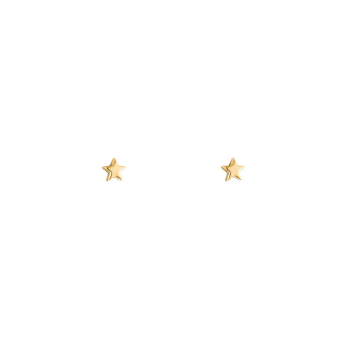 Tiny Gold Star Stud Earrings