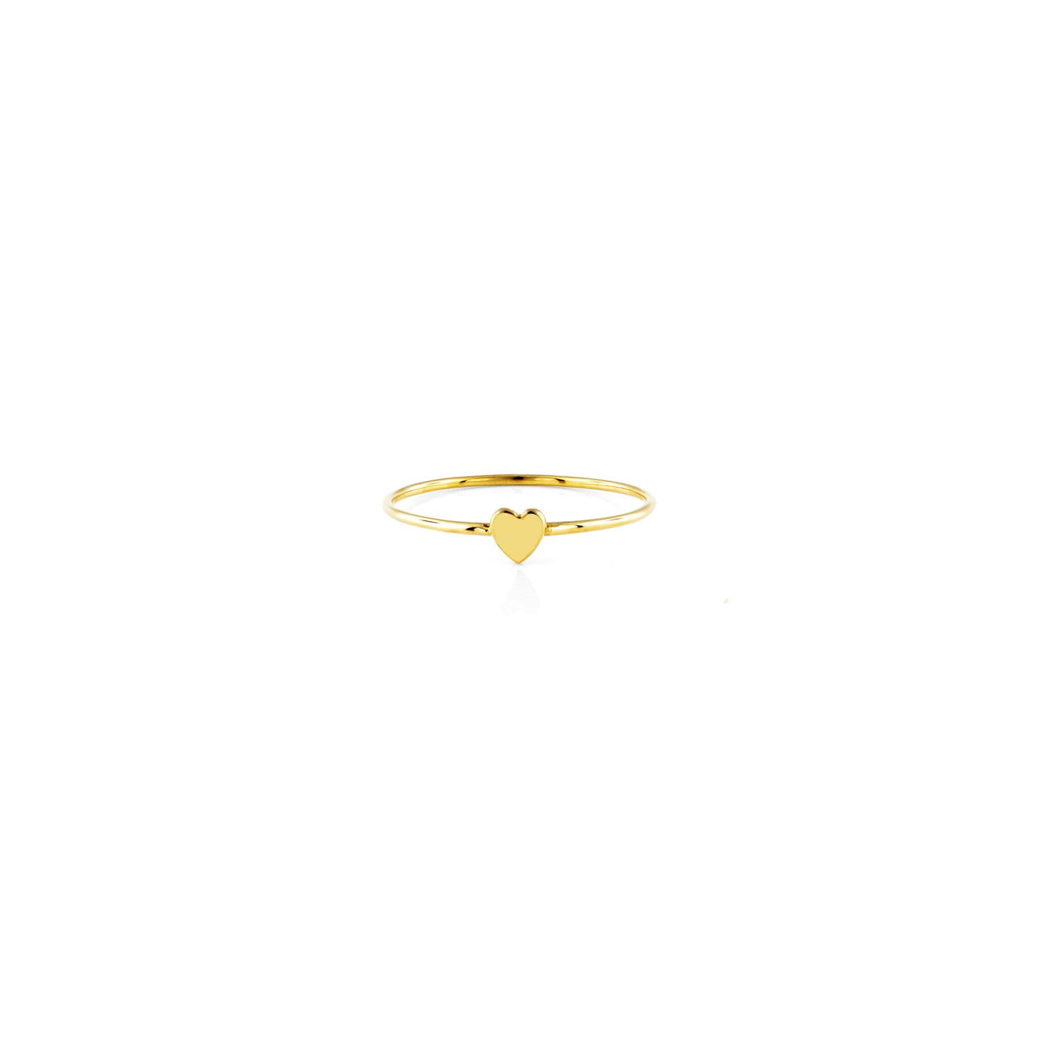 Image of Heart Charm Gold Ring