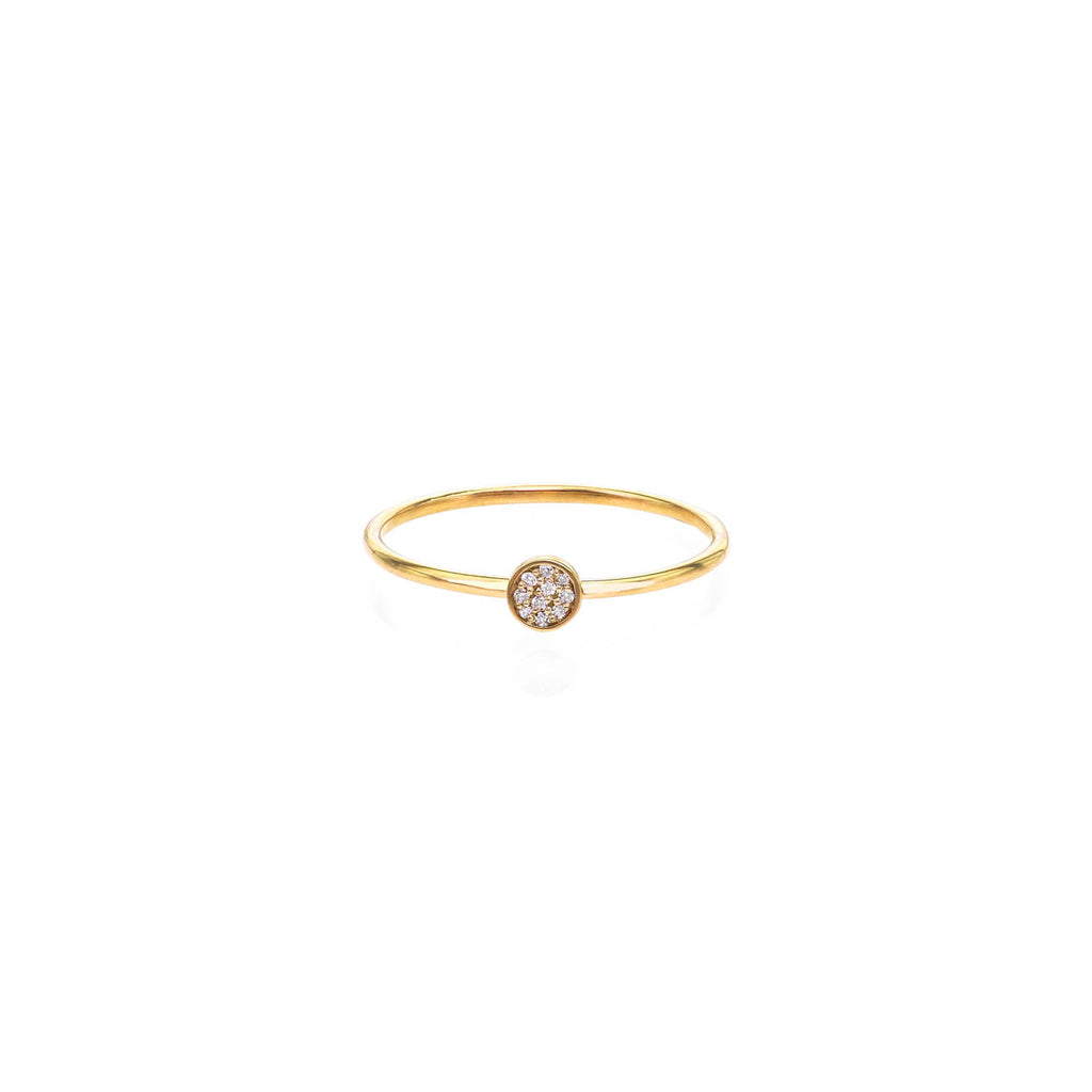 Image of Tiny Pave Diamond Disc Ring
