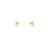 Triple Bubble Gold Stud Earrings