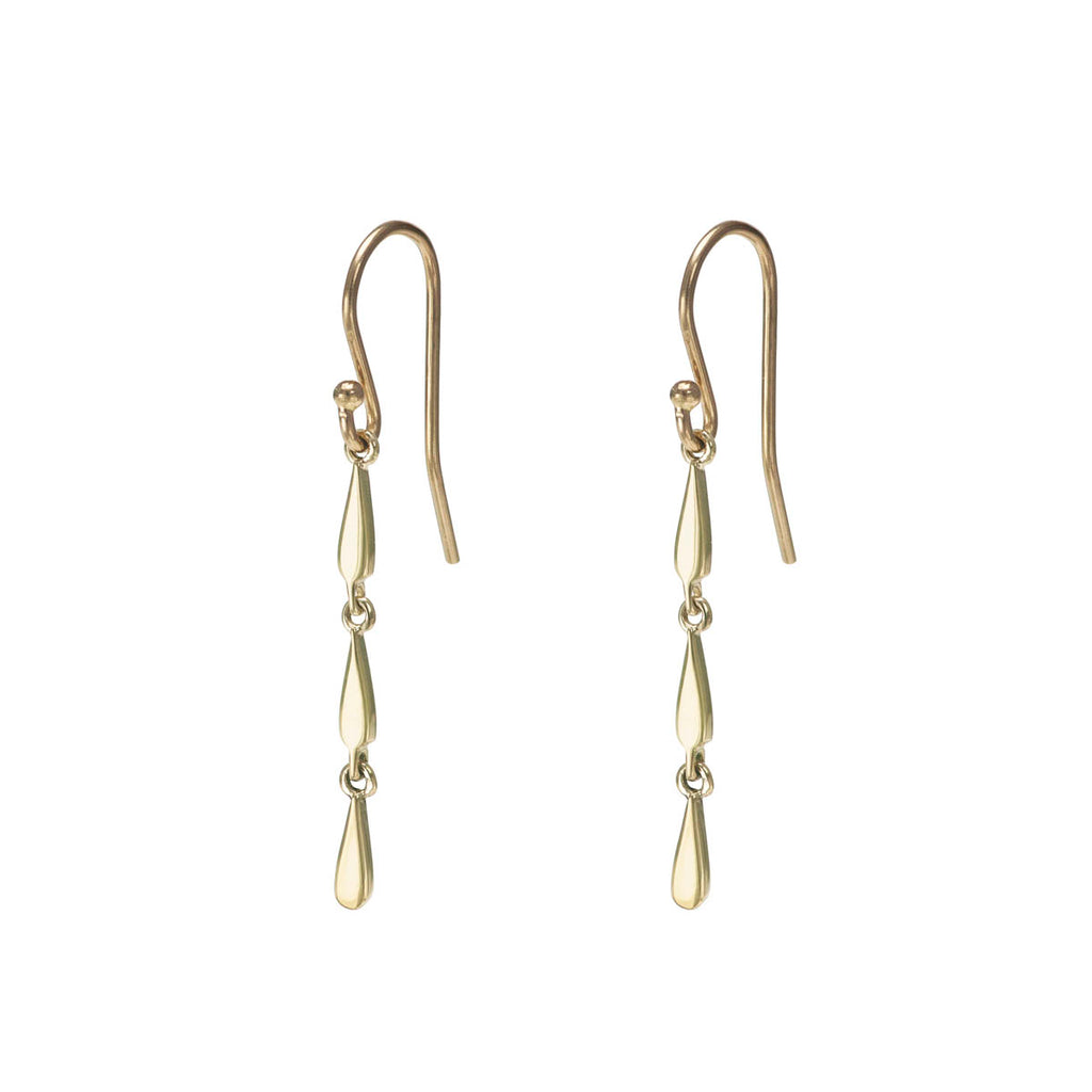 Triple Drip Drop Gold Earring