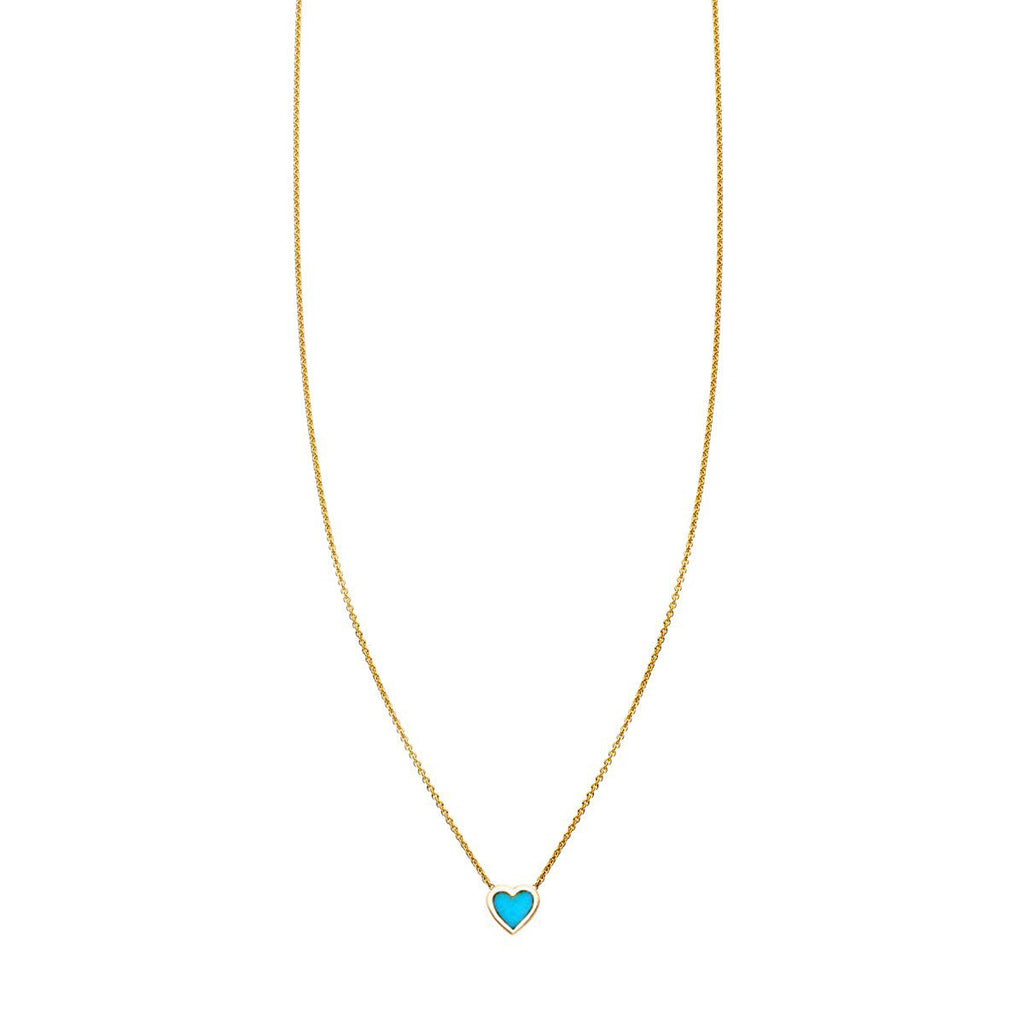 Image of Turquoise Inlaid Heart Necklace