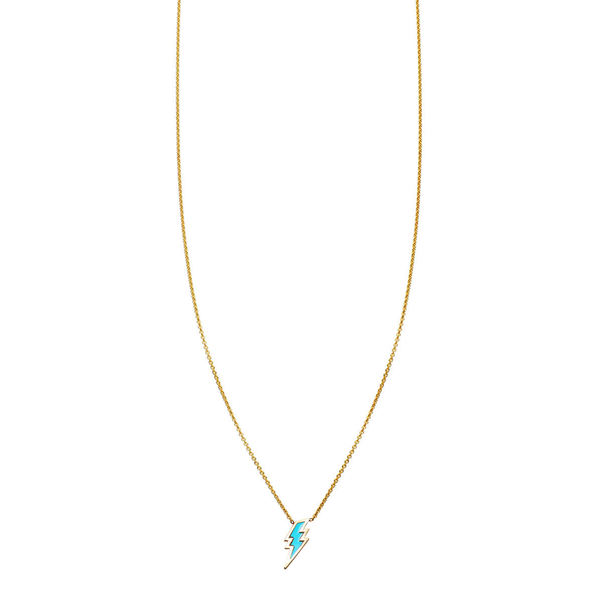 Image of Turquoise Inlaid Lightning Bolt Necklace