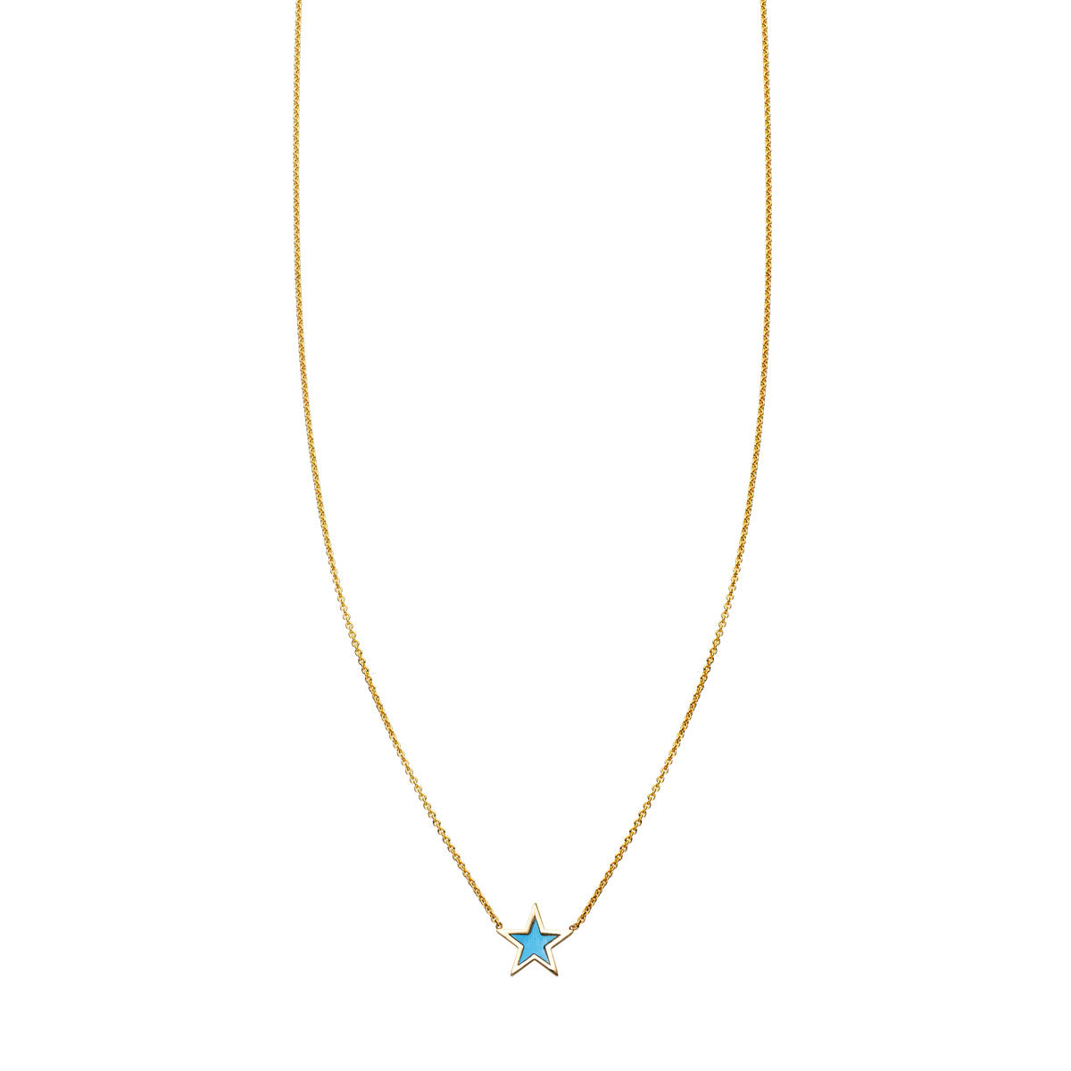 Image of Turquoise Inlaid Star Necklace