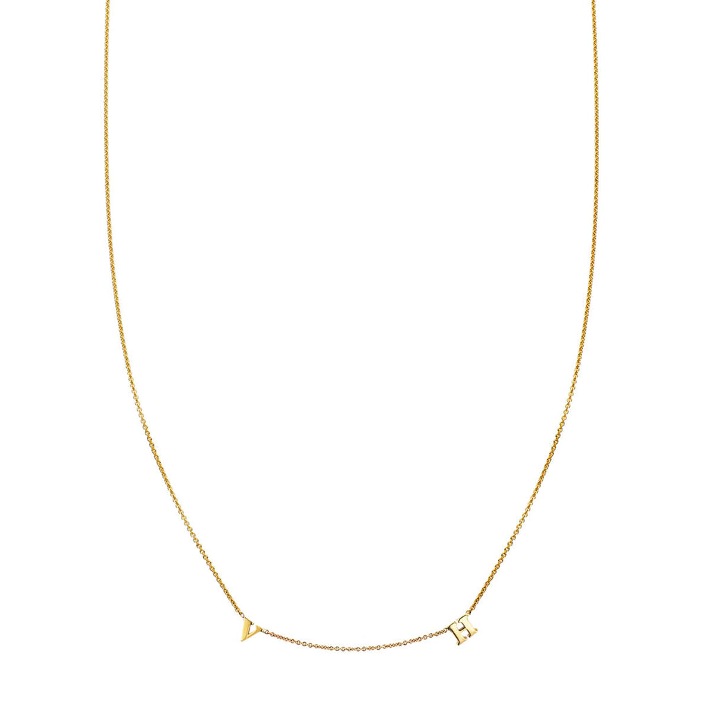 Two Letter Gold Initial Necklace