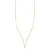 Image of a Gold V Shape Outline Necklace