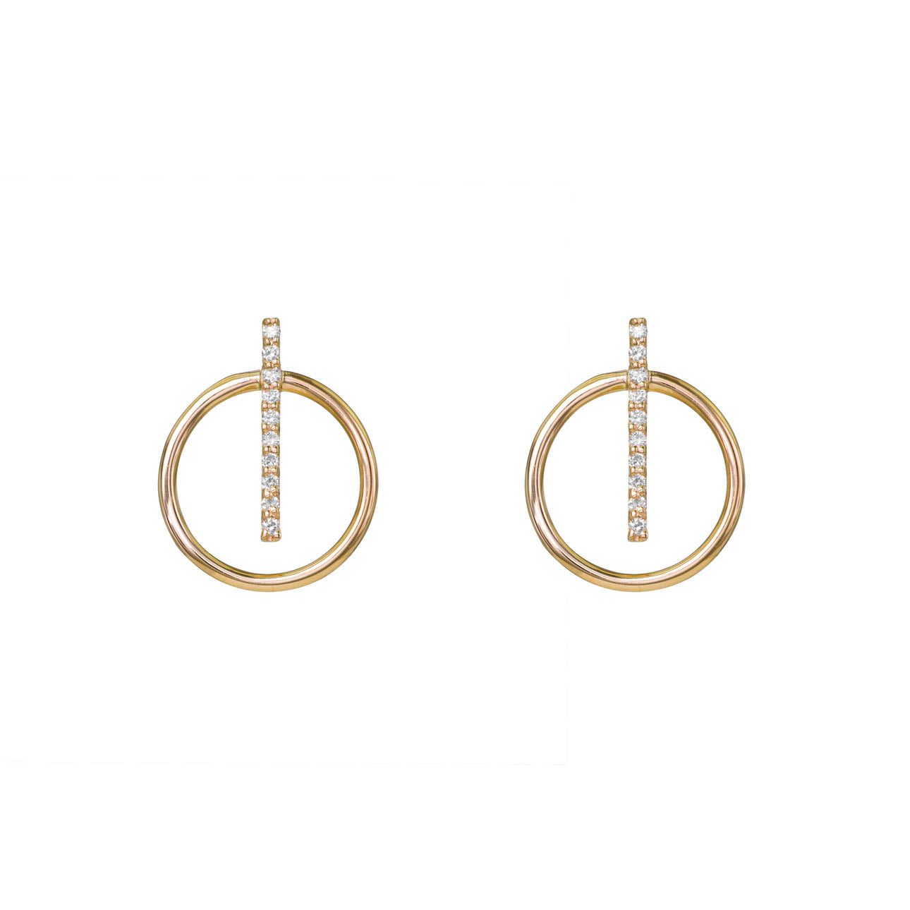 Image of Vertical Diamond Bar Hoops