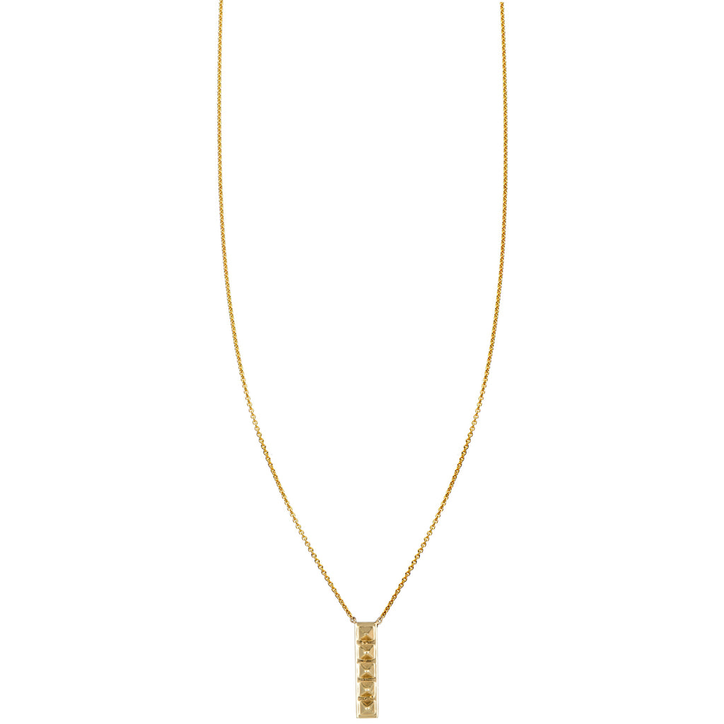 Vertical Spiked Bar Necklace