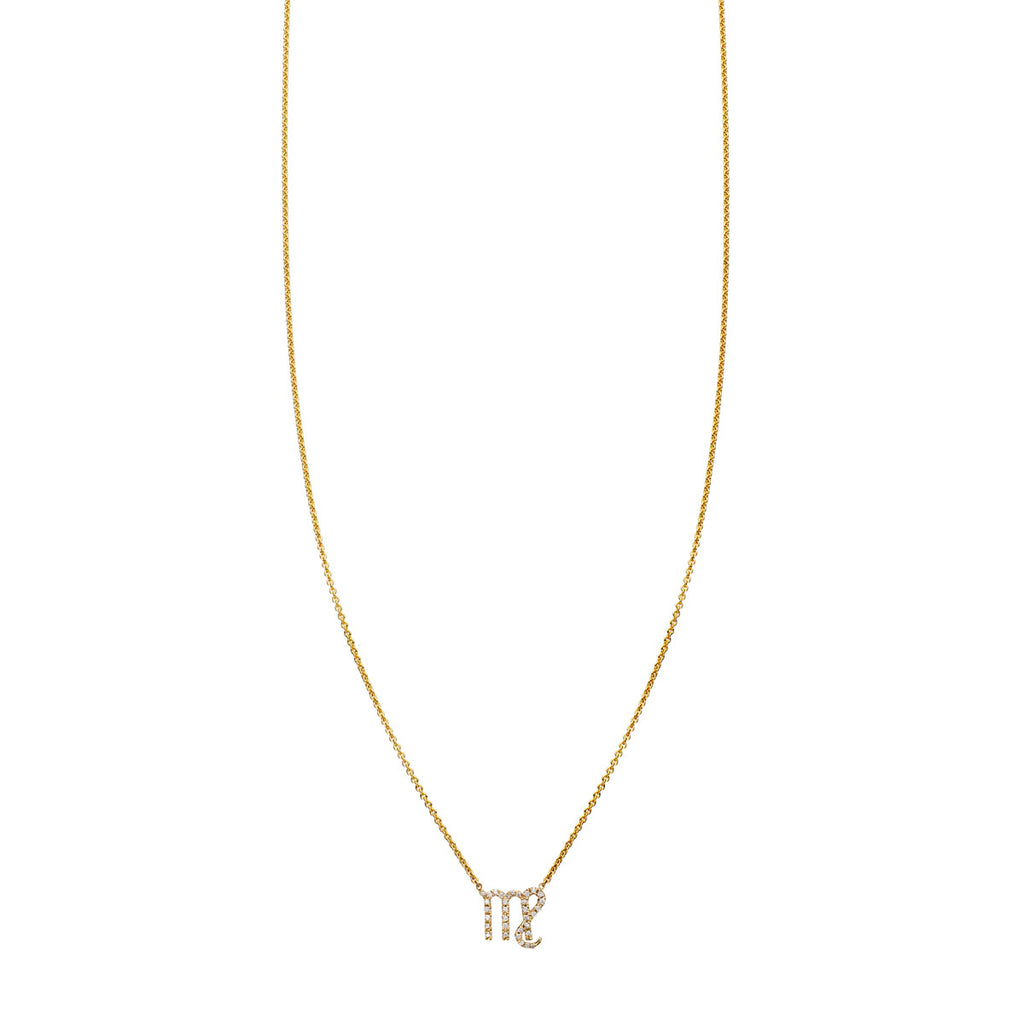 Image of Virgo Diamond Zodiac Necklace