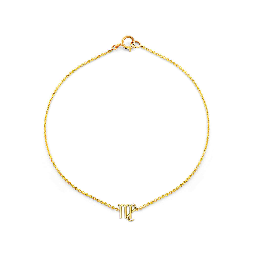 Image of Gold Virgo Zodiac Bracelet