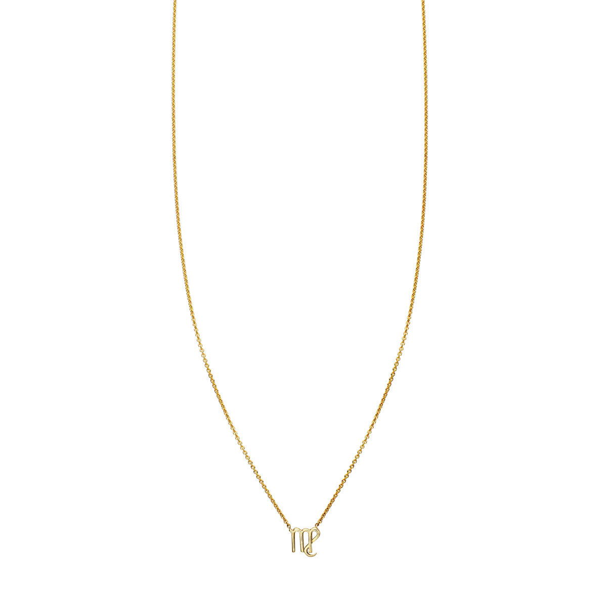 Image of Virgo Gold Zodiac Necklace