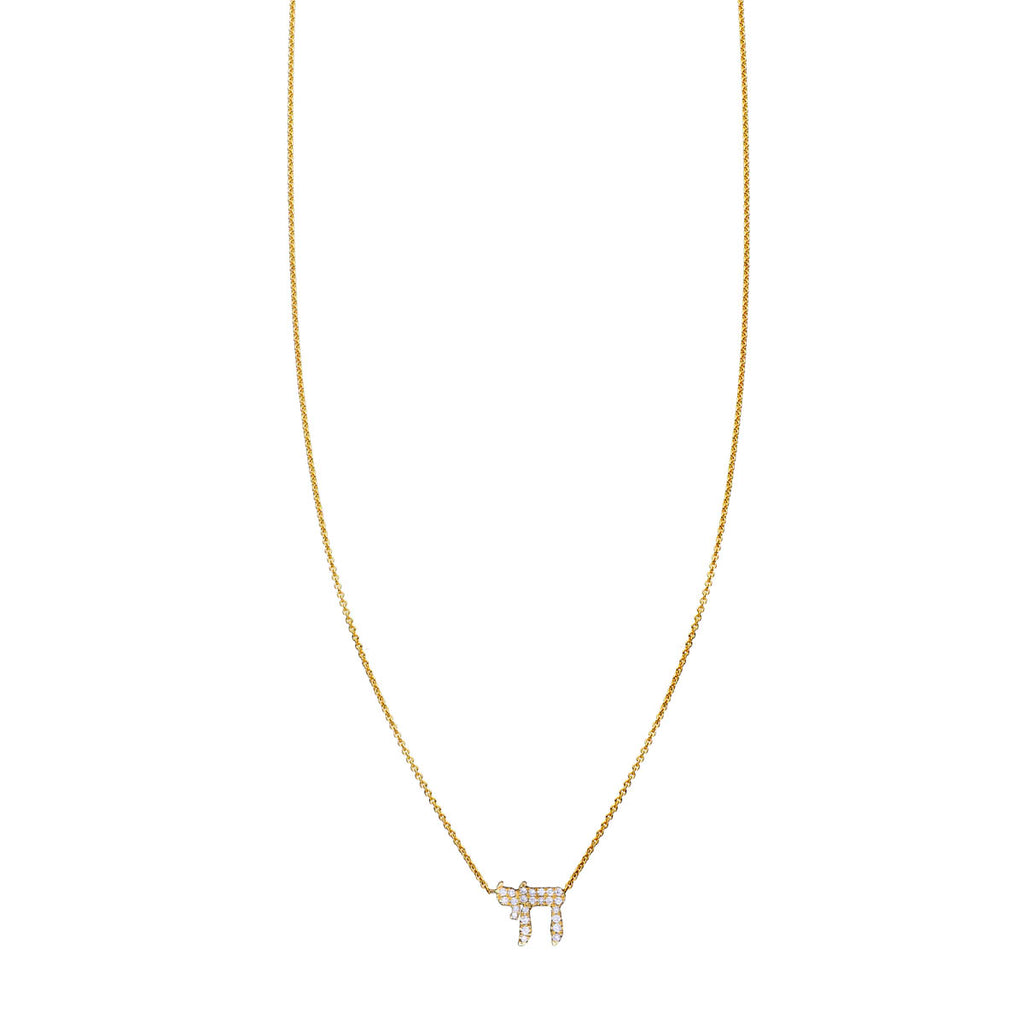 White Diamond Chai Necklace