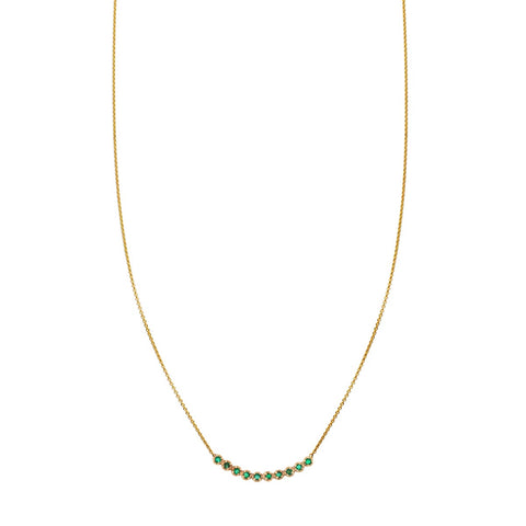 Image of a 11 Round Emerald Arch Necklace
