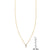 White Diamond Vertical Triangle Necklace