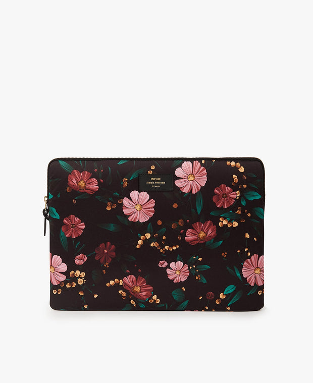 wouf Black Flowers 13'' Laptop Kılıfı