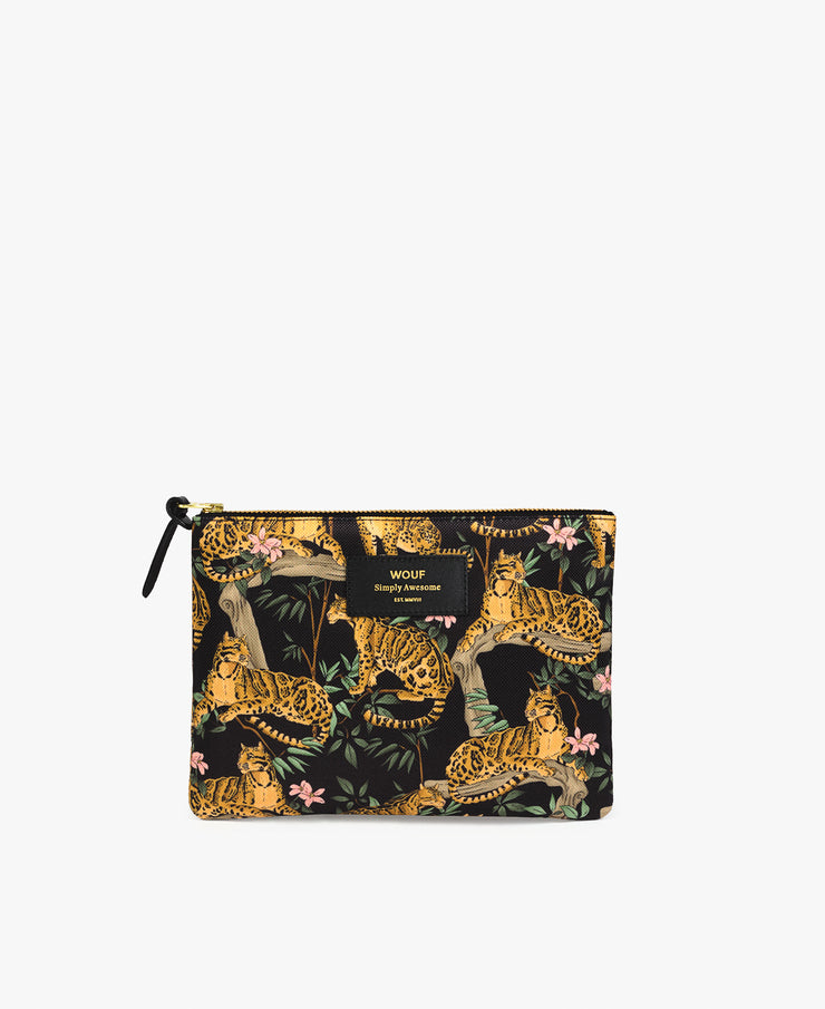 wouf Black Lazy Jungle Large Pouch - Portföy Çanta