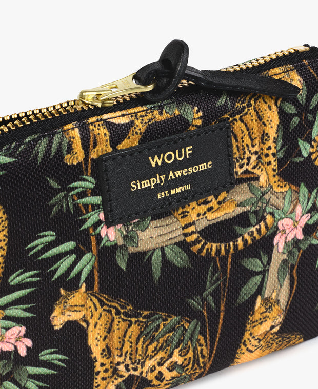 wouf Black Lazy Jungle Small Pouch -  Para Çantası