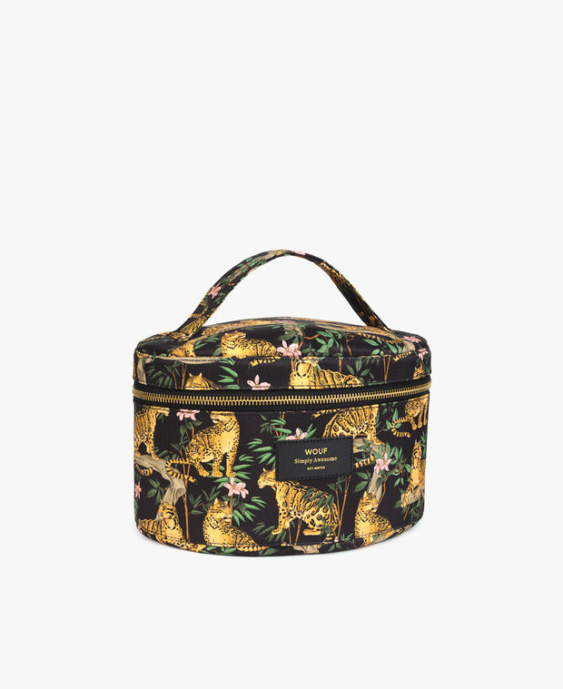 wouf Black Lazy Jungle XL Makeup Bag - Makyaj Çantası