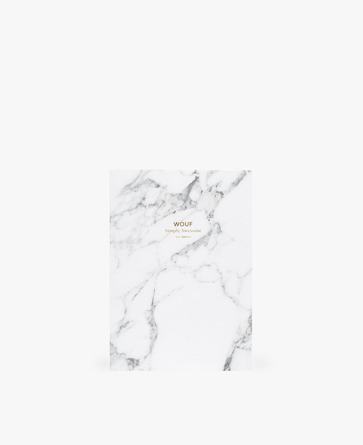 wouf A5 White Marble Paper Notebooks- Kağıt Defter
