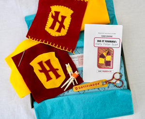Harry Potter DIY crafts Harry Potter Scarf Hand Sewing Fun Crafty West Newton Hipstitch