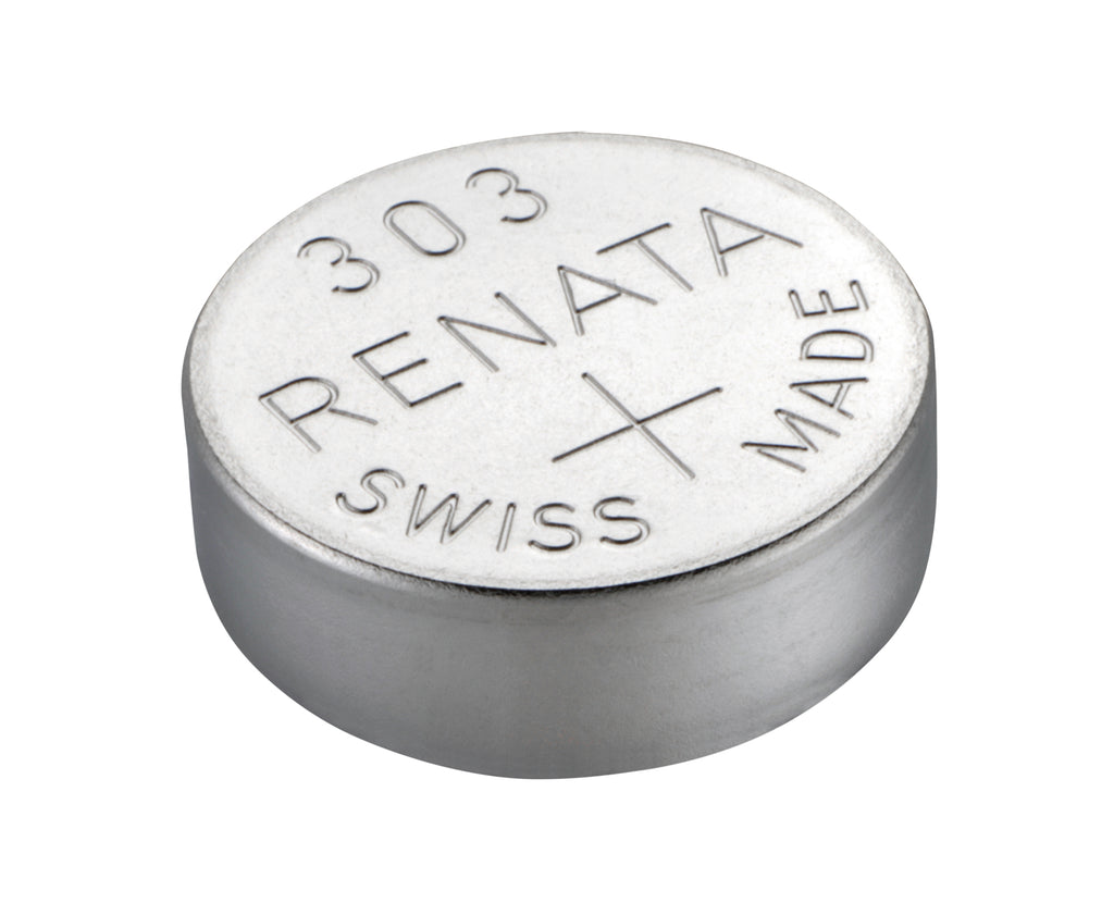 Renata #303 SR44SW 1.55v Silver Oxide Battery - Tear Strip of 10