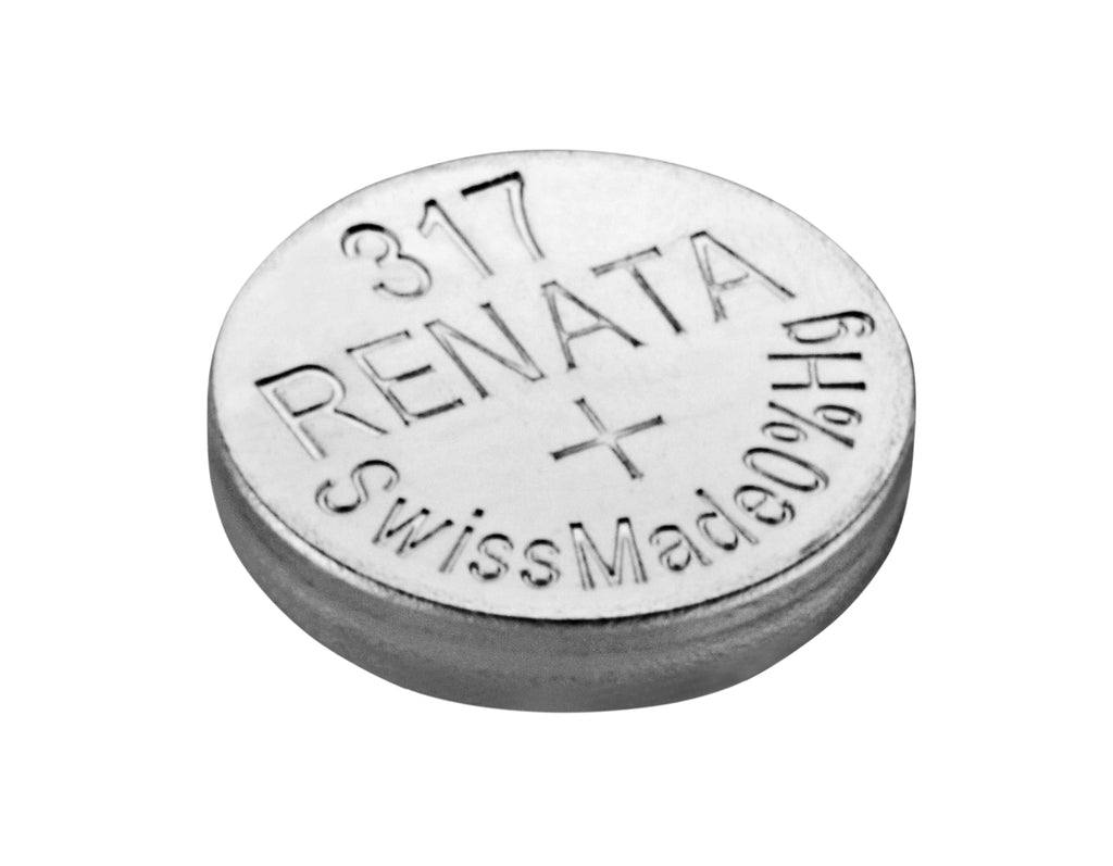 Renata #317 SR516SW 1.55v Silver Oxide Battery - Tear Strip of 10