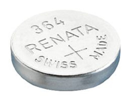 Renata #364 SR621SW 1.55v Silver Oxide Battery - Tear Strip of 10