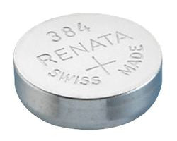 Renata #384 SR41SW 1.55v Silver Oxide Battery - Tear Strip of 10