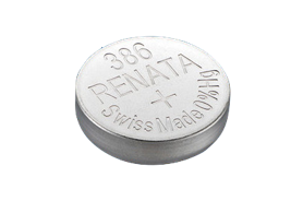 Renata #386 SR43W 1.55v Silver Oxide Battery - Tear Strip of 10