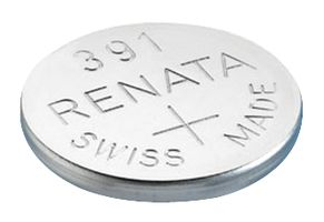 Renata #391 SR1120W 1.55v Silver Oxide Battery - Tear Strip of 10