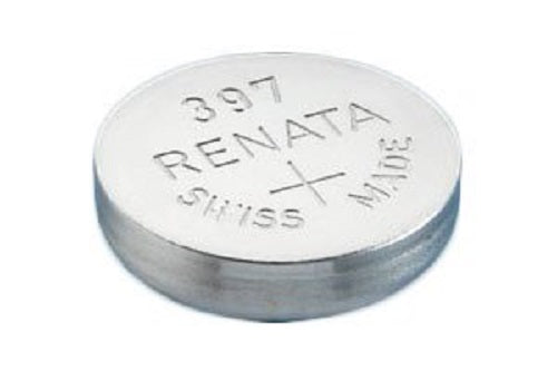 Renata #397 SR726SW 1.55v Silver Oxide Battery - Tear Strip of 10