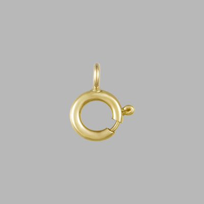 Spring Ring Clasp Gold 10KT Gold, 5.5mm Round Clasps | Open Jump Ring For Chain Necklace Bracelet Connectors Jewelry Making- Pack of 6