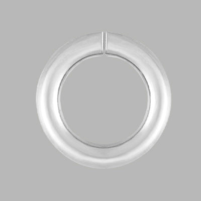 Sterling Silver 7mm Jump Ring connects two components of jewelry together
