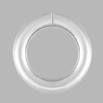Sterling Silver 8mm Jump Ring connects two components of jewelry together