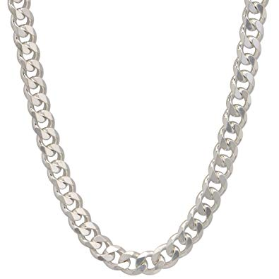 Sterling Silver Cuban Chains, 2-8mm, 16-30""