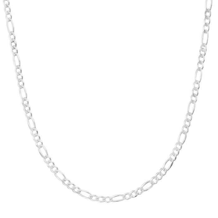 Sterling Silver Figaro Chains, 2-7mm, 16-30""
